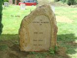 WB13 - Large Boulder Headstone with Smoothed Recess for Lettering.