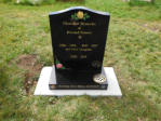 "WCE9 - 2'6"" All Polished Black Ogee style Headstone, with full colour Rose designs and full colour."
