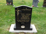 "WCE13 - 2'6"" All Polished Black Ogee style Headstone, with Bronze Cross and Rose."