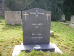 "WCY29 - 2'6"" Honed Dark Grey Ogee style Headstone, with two Cross design in Gold."